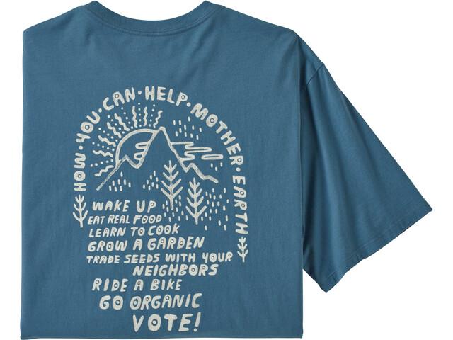 Patagonia How To Help Organic Camiseta Hombre, pigeon blue